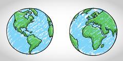 Global Art - stock illustration
