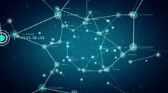 Network Nodes Blue Stock Footage
