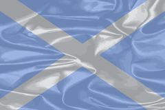 Stock Illustration of Scotland Silk Flag