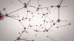 Network Nodes Red Lite Stock Footage