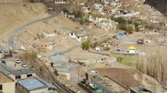 View of Lamayuru Monastery Stock Footage