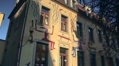 Dresden Neustadt, newtown in Saxony Germany Stock Footage