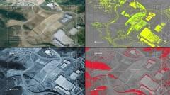 Aerial surveillance drone/UAV flyover of industrial plant Stock Footage