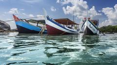 Boats for sea transportation - stock photo