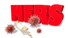Middle East Respiratory Syndrome (MERS) 3D sign - stock footage