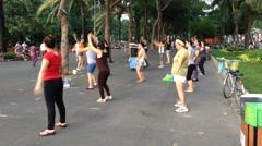 Fitness in Saigon Stock Footage