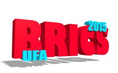 Brics summit in ufa russia 2015 Stock Illustration