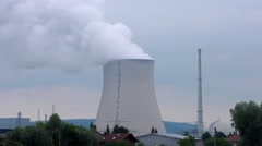Isar nuclear power plant in Essenbach, Bavaria, Germany - stock footage