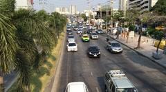 Evening Bangkok transportation traffic.MOV Stock Footage