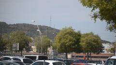 City Outskirts Car Park Stock Footage