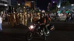Nightlife in Saigon holidays Stock Footage