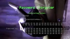 4K Password Hacking Smartphone Stock Footage
