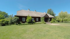 Suchedniow manor house in Tokarnia open-air museum, Poland Stock Footage