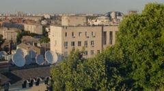 Kiev city panorama more than 180 ° - stock footage