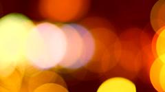 Defocused night traffic lights - stock footage