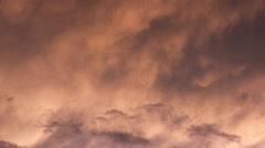 Storm clouds sunset background Stock Footage