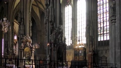 St. Stephen's Cathedral in Vienna, Austria - stock footage