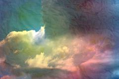 beautiful clouds - stock illustration