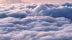 above cloudscape, time lapse - stock footage