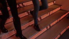 Lighting stairs Stock Footage