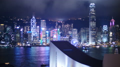 Changing lights patterns TL on Hong Kong city 4K Stock Footage