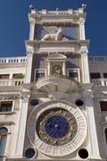 Clock tower with zodiac (Venice ,Italy) Stock Photos