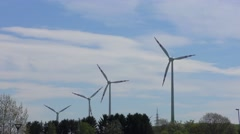 4K footage of wind turbines Stock Footage