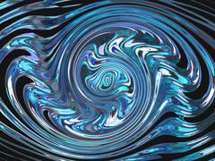 Rotating blue shapes Stock Illustration