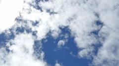 4K Clouds Time Lapse 03 Blue Sky - stock footage