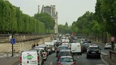 Crazy long traffic jam. Paris, France. Arkistovideo