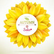 Sunflower autumn sale. EPS 10 Stock Illustration