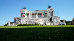 Vittoriano, National monument - stock footage