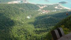 Langkawi Oriental Village from top of Gunung Mat Chinchang Stock Footage