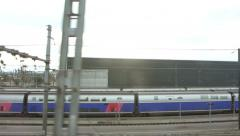 Rows of High Speed Trains TGV Train Grande Vitesse Stock Footage