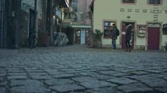 Dresden Neustadt, newtown in Saxony Germany - stock footage