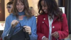 Girls Shop at mall Stock Footage