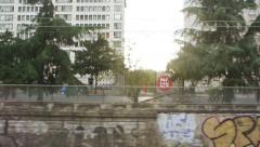 Lyon downtown neighborhood, France Stock Footage