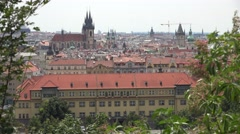 ULTRA HD 4K Famous Prague architecture church tower old town hall landmark icon Stock Footage