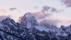 Stock Video Footage of Teton Sunset Time-Lapse
