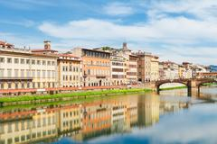 Old town and river Arno, Florence, Italy Stock Photos