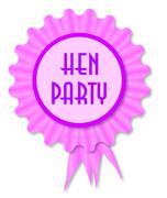 Hen Party Rosette - stock illustration