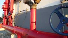 Fire sprinkler control system, video HD slider slow Stock Footage
