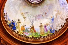 Angels Heaven Frescos Dome San Francisco el Grande Royal Basilica Madrid Spai - stock photo