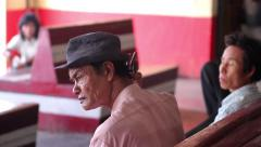 Nitty people. Old man. Poor people. Man at the station. Stock Footage