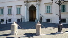 Quirinal Palace, Changing of the guard Stock Footage