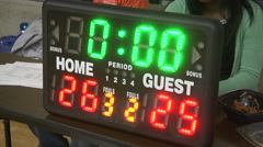 Basketball Score Clock (HD) Stock Footage