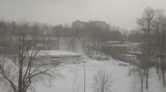 Winter in Gorky Park Stock Footage