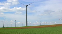 4K footage of wind turbines Stock Footage