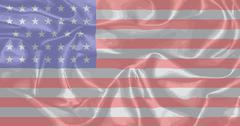 Civil War Union Silk Flag Stock Illustration