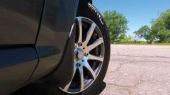 Car Wheel - stock footage